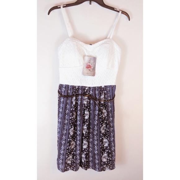 17b32e8b2f5c66 Lily Rose Dresses | Belted Fit And Flare Dress Juniors Lg | Poshmark